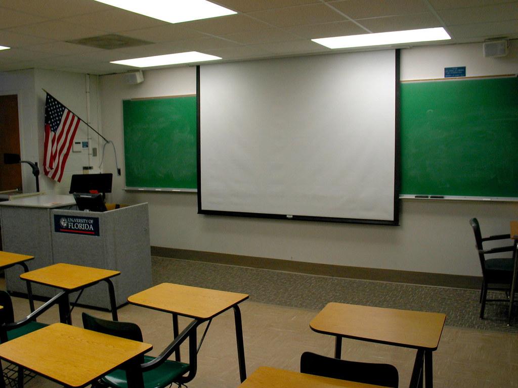 UF McCarty Classroom Desks Screen Flag  Christopher