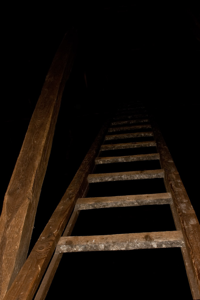 Traditional Wooden Ladder In The Darkness Brown Medieval L Flickr