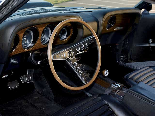 Boss 429 1969 Ford Mustang Interior  I do not know whos