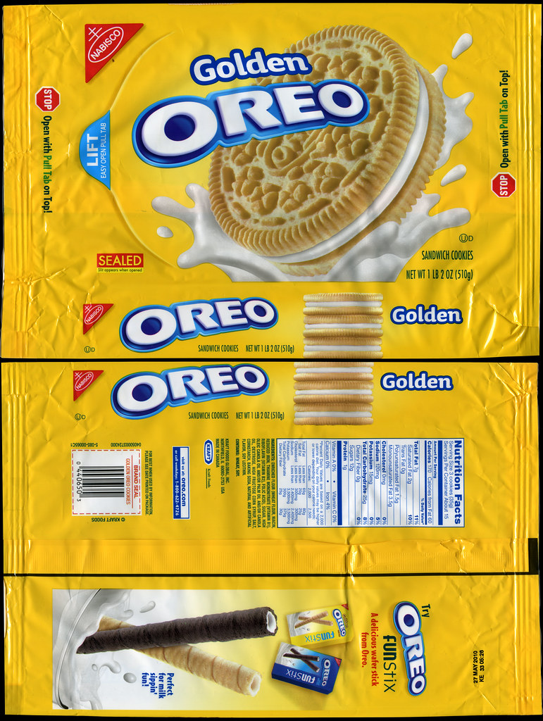 Nabisco  Oreo Golden cookie package  2009  My first