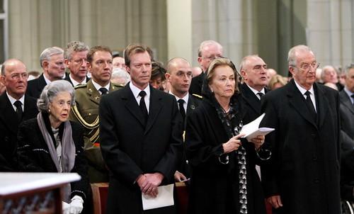 Funeral Prince Alexander of Belgium  Queen Fabiola Grand