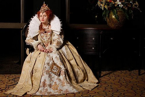 Queen Elizabeth Photo By Anna Fischer Gown Based On