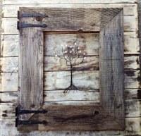 Rustic Barn Wood Frame with Vintage Rustic Hinges | Menas ...