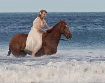 Bareback Barefoot Bride Trash Dress Blue