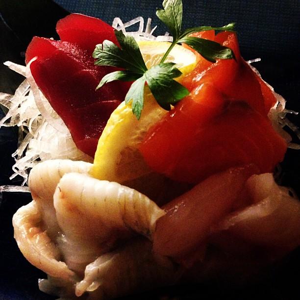 Sashimi. Pescado crudo