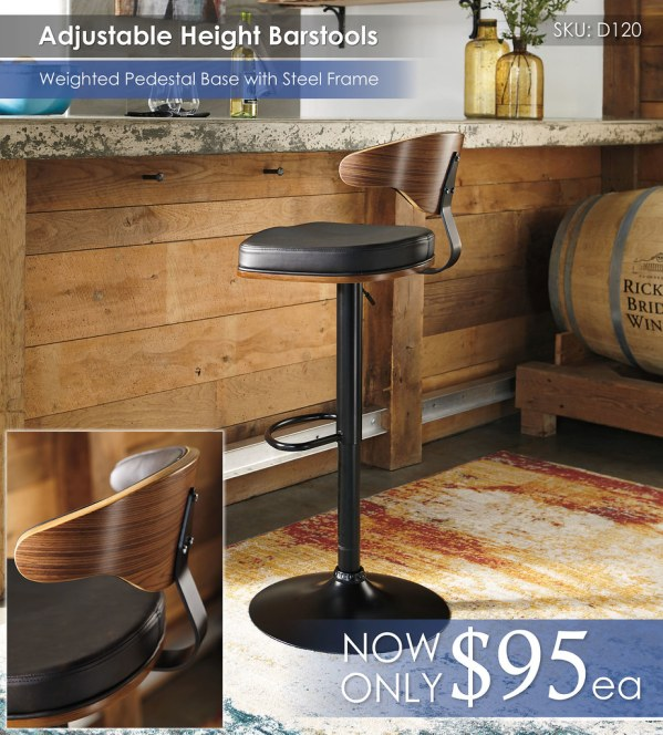 D120 Adjustable Barstool