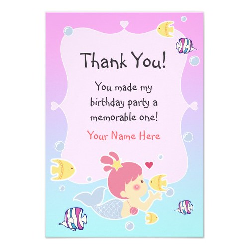 Birthday Party Thank You Letter Thank You Messages For