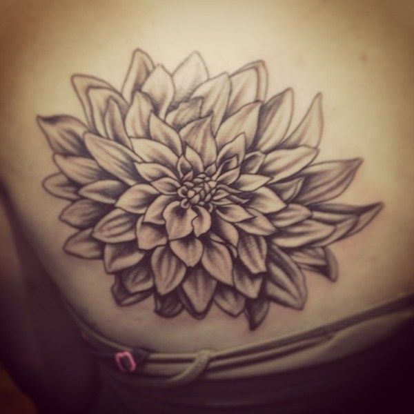 Today39s flower tattoo tymelesstattoo blackandgrey dah
