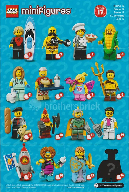 Lego 71018 Collectible Minifigures Series 17 Feel Guide