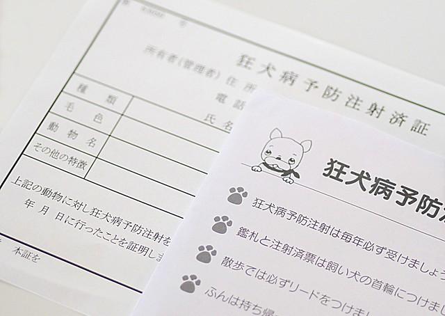 狂犬病予防注射の済票