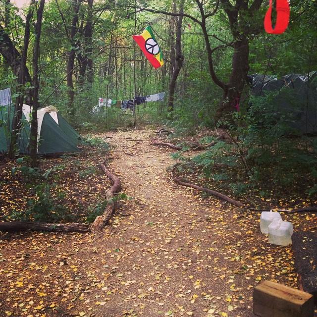 living in ekeberg forest in norway