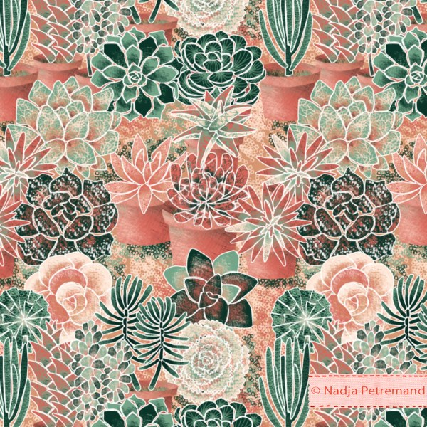 Succulent Fabric Patterns
