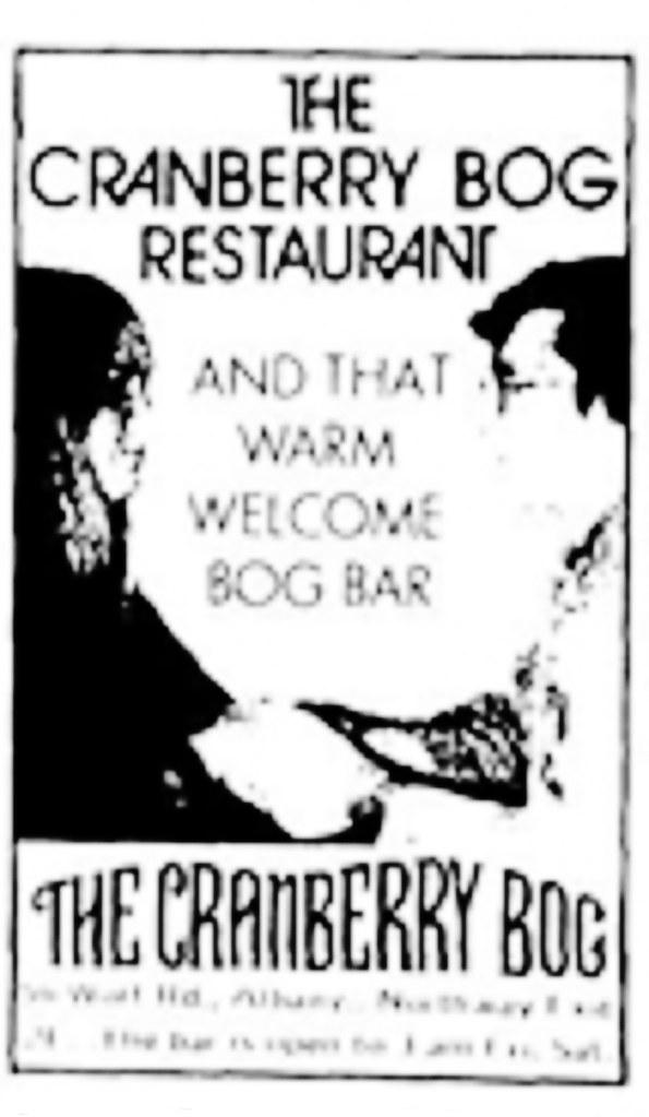 Cranberry Bog restaurant wolf road albany ny 1972 albany n