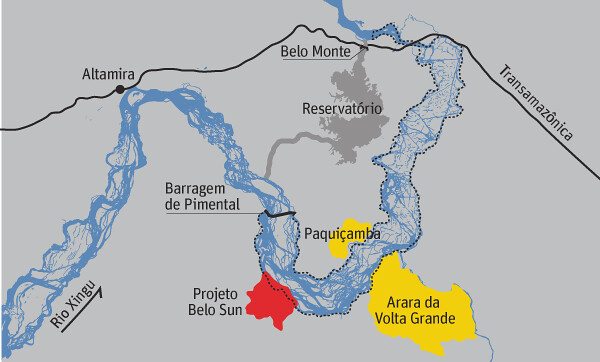 Em nota, Belo Sun diz que projeto Volta Grande fica distante de terras indígenas, Belo Sun no Pará