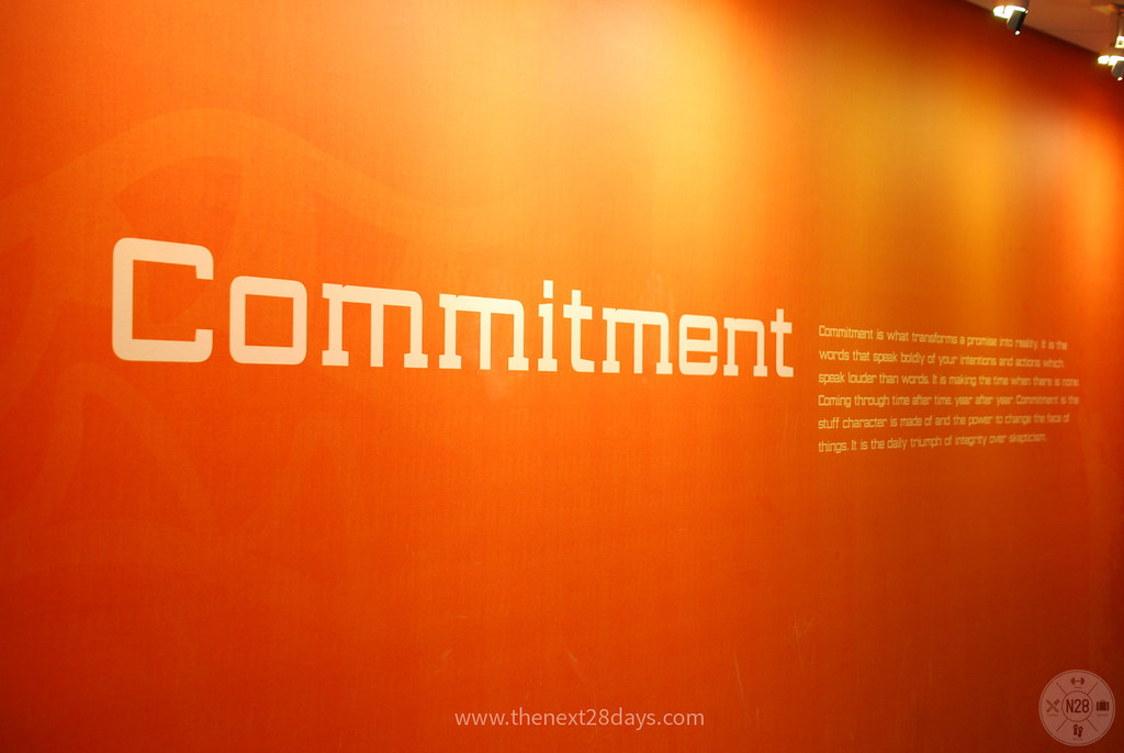 Next28Commitmentwall  Commitment is what transforms a