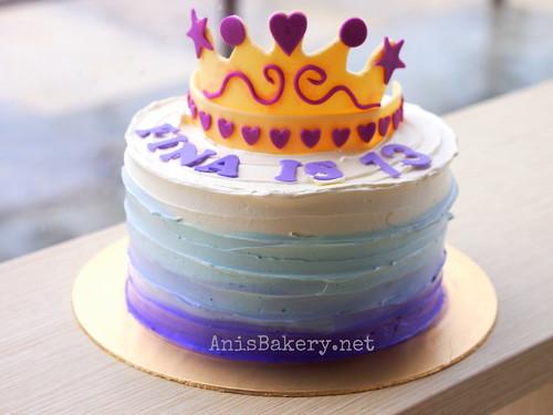 ombre princess cake