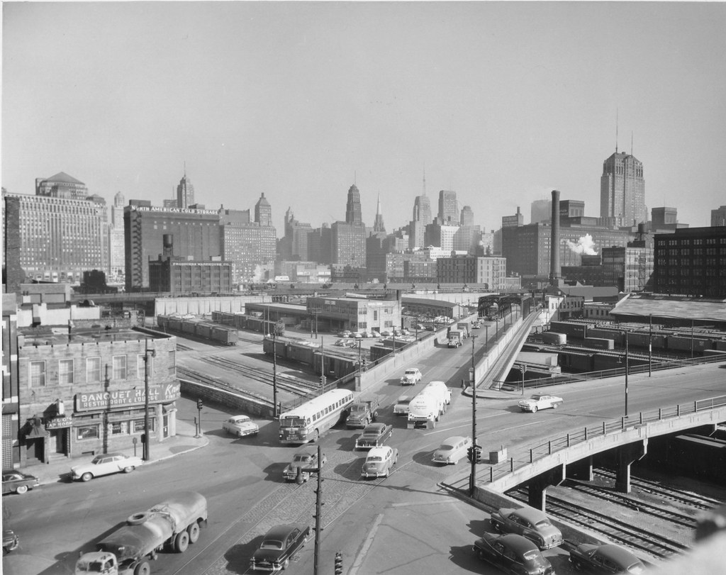 Milwaukee Kinzie Amp Desplaines In 1955 A Cta 56