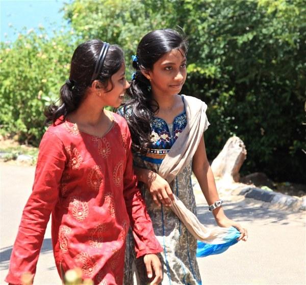 TAMIL GIRLS Street photography in Sri Lanka