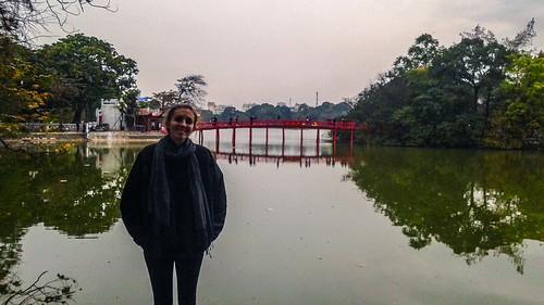 In front of HK Lake