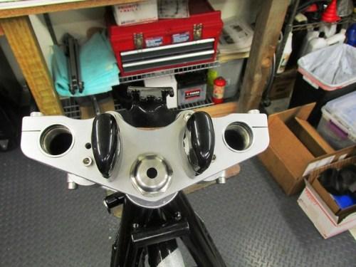 """Toaster Tan Top Plate & Steering Stem """"Acorn"""" Nut Mounted"""