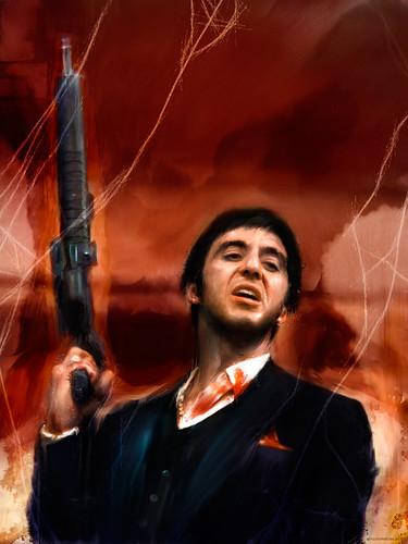 Digital 3d Wallpaper Tony Montana Scarface Un Cubano De Actitud Fuerte