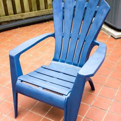 How To Paint Plastic Chairs Leather Chair Metal Frame Patio Tastefully Eclectic Clean
