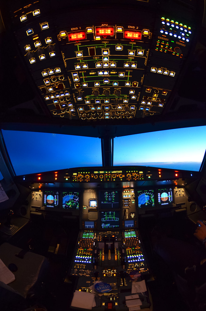 3d Pc Wallpaper Com Airbus Lights Out Philosophy Airbus A320 Flight Deck