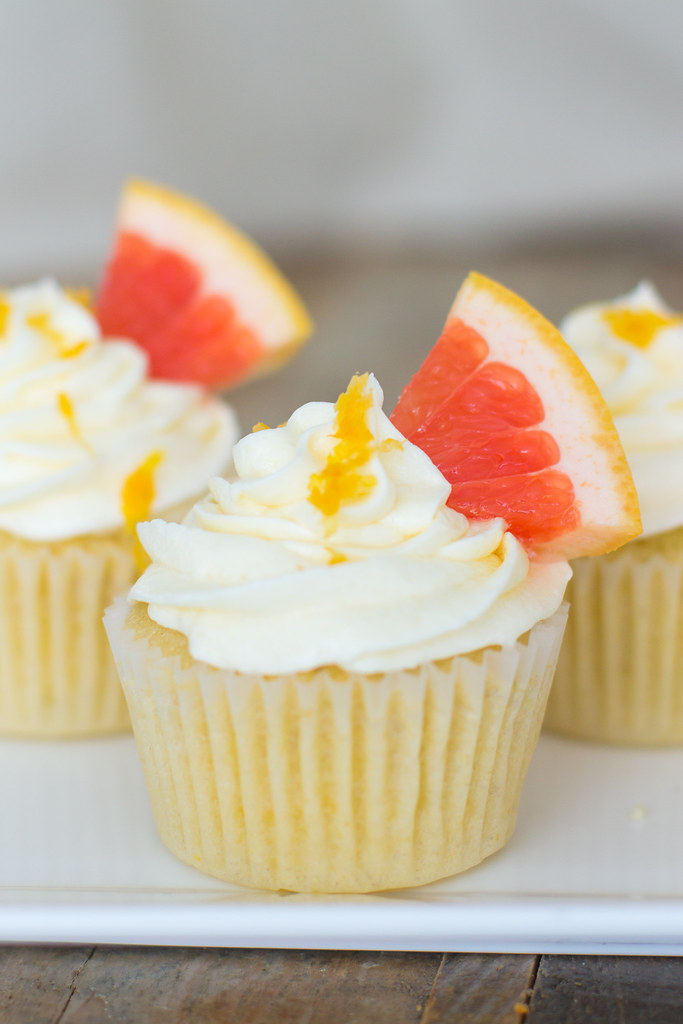 Paloma cupcakes - bursting with lime, grapefruit, and tequila - perfect for Cinco de Mayo or any summer fiesta!