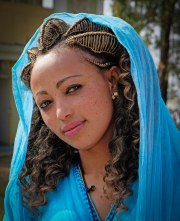 young ethiopian woman wearing traditional