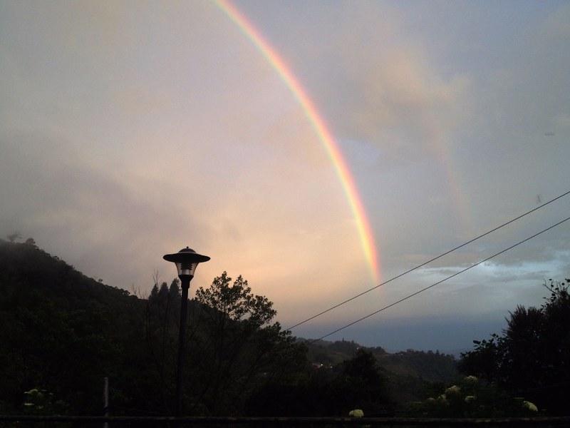 beautiful rainbow in sabah, borneo, malaysia