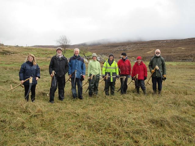 Scythe course in Scotland