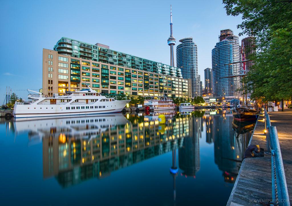Toronto Harbor Reflection  Follow me on Twitter  Like on