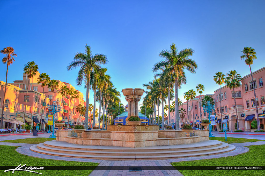 Mizner Park Water Fountain Boca Raton City Downtown Flickr
