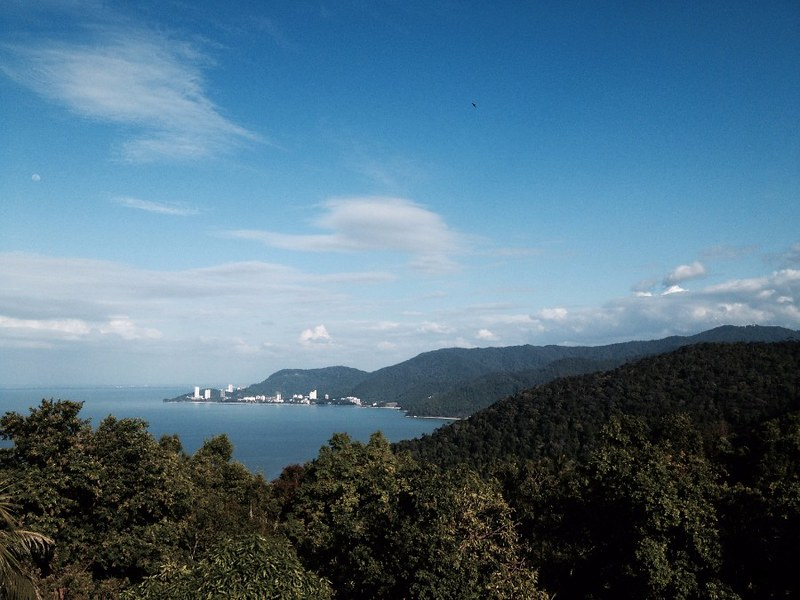 view towards georgetown from penang national park lighthouse