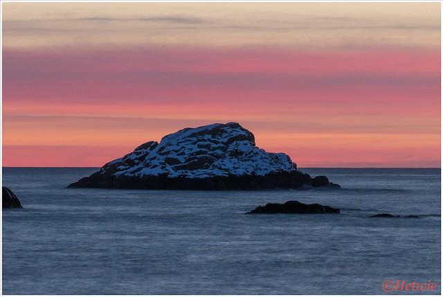 zonsondergang Svlovær molo.