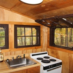 Lights For Over Kitchen Sink Cool Knives Cabin At Stokes State Forest | There Are Ten ...