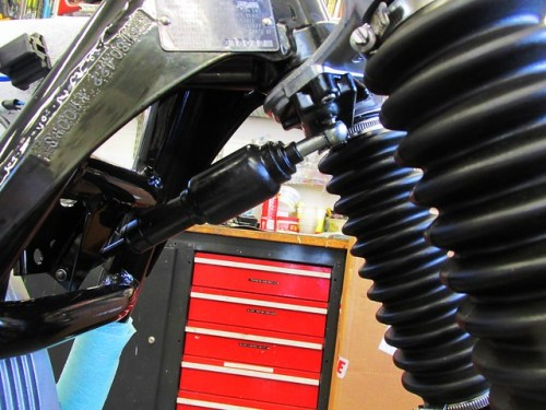 Steering Damper Installed