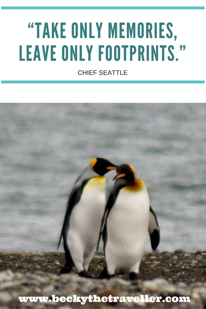 """Take only memories, leave only footprints."" – Chief Seattle"