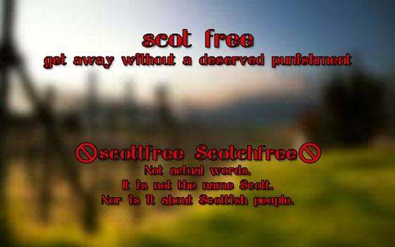 #AtoZChallenge Scot Free not Scott or Scotch #Fiction #SFF
