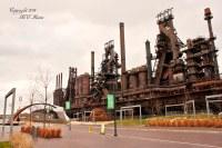 Steel Stacks & Blast Furnace (Old Bethlehem Steel Mill) wi