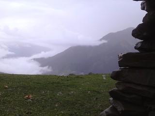 trekking over chandrakhani pass in himachal pradesh