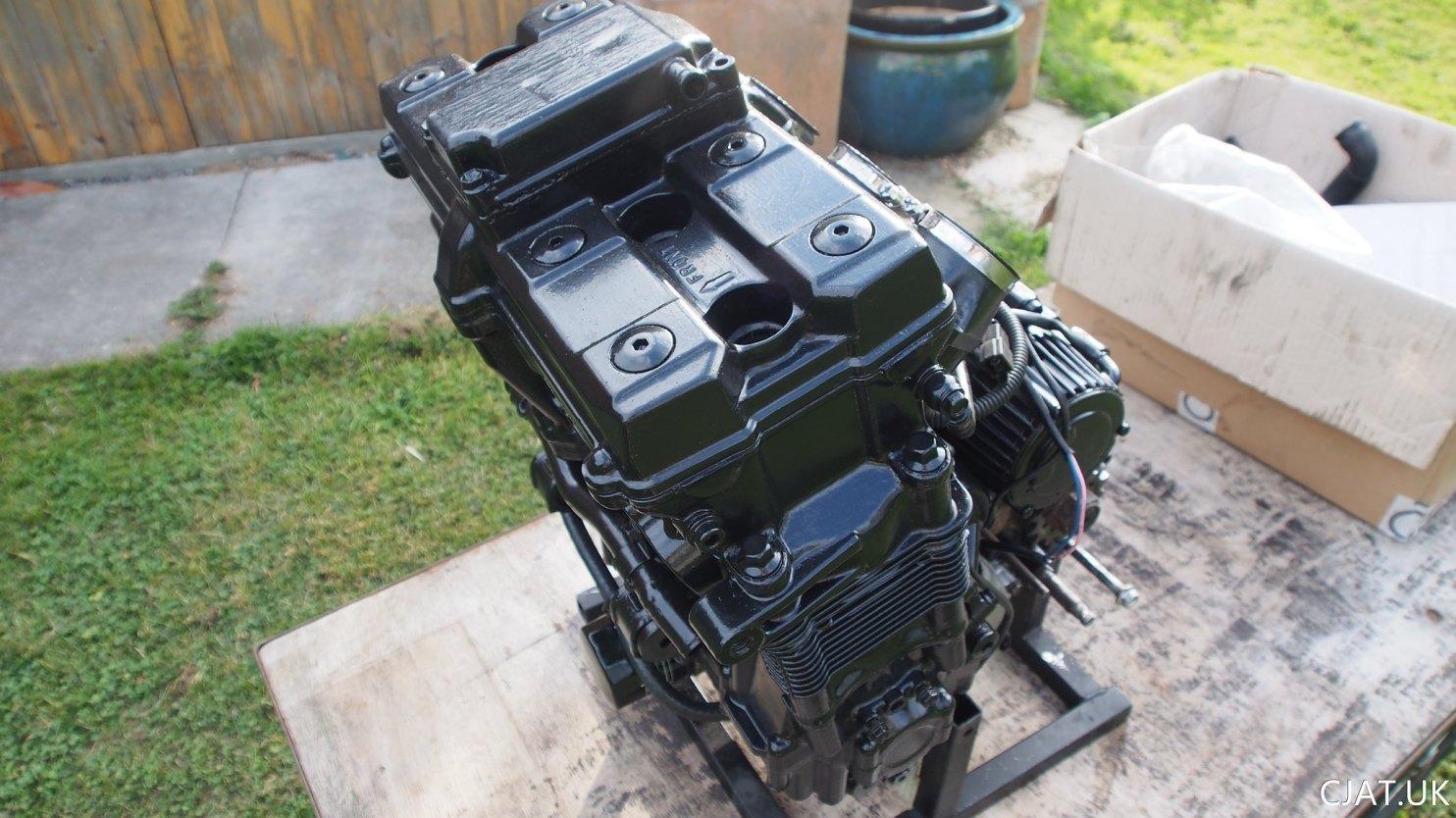 Suzuki RF900 StreetFighter painted engine