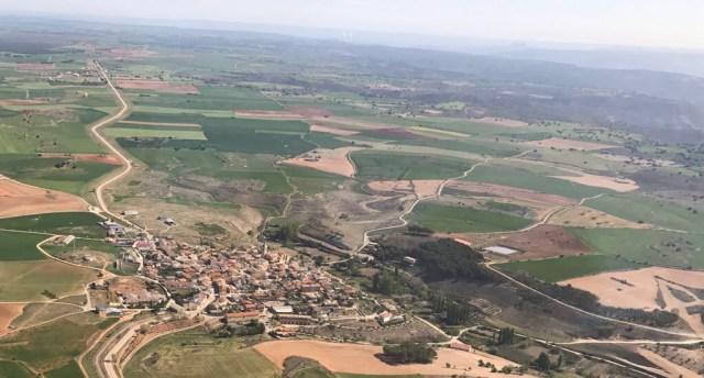 Panóramica futuro emplazamiento Aeródromo de Fuentelencina (Anguix)