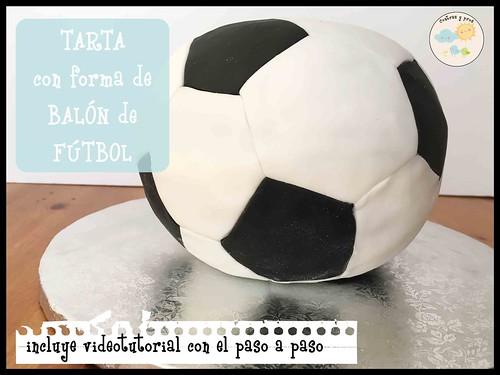 Tarta con forma de balón de fútbol
