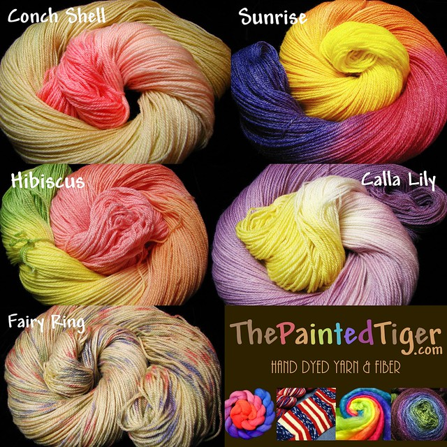 New Hand Dyed Panda Merino Bamboo Sock Yarn at The Painted Tiger