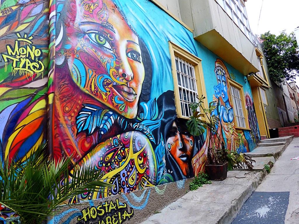 Mural en Hostal Valparaiso Chile  Cris Photos Thanks