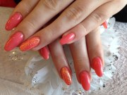 acrylic nails with ocean coral