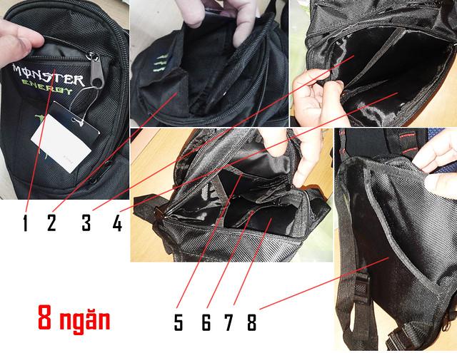 Túi đeo hông 8 ngăn hiệu Monster Cần Thơ