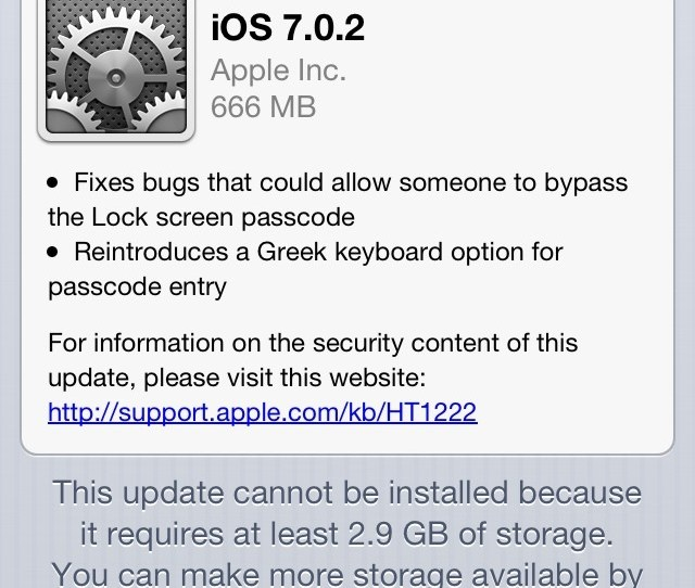 666 Satanic Check Out How Many Mb It Takes To Update To Ios7 666 Satanic