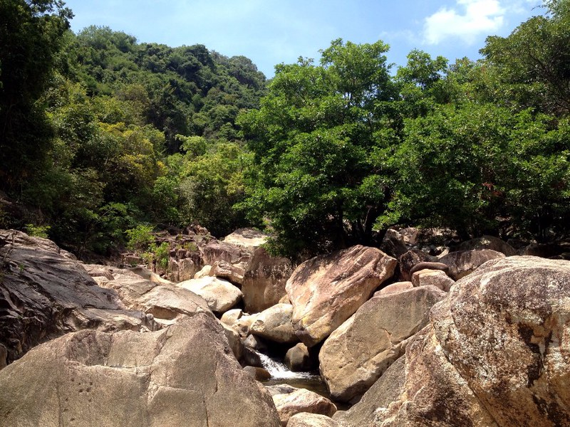 river in ba ho waterfalls in nha trang